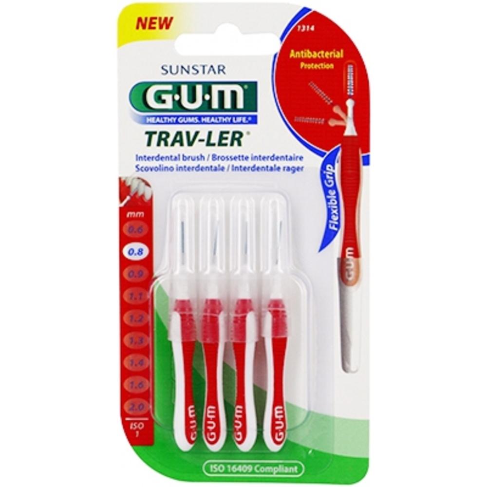 Gum travler brossettes interdentaires 1314 x4 Gum-145532