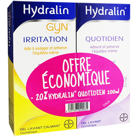Gyn irritation 200ml + quotidien 200ml - hydralin -121110