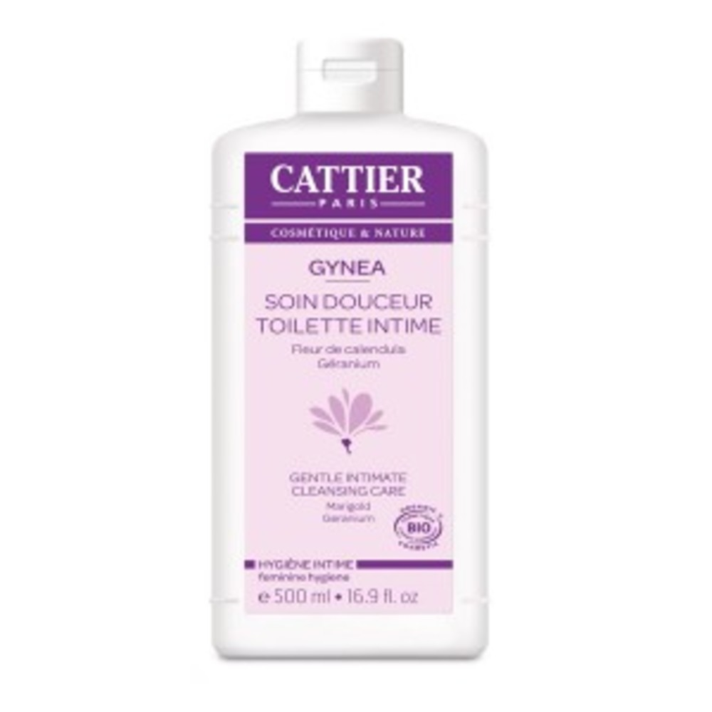 Gynéa gel bio - 500.0 ml - gynéa hygiène intime - cattier Fleur de Calendula et Géranium-134601