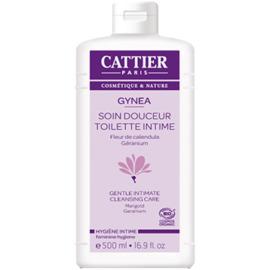 Gynéa gel soin douceur bio - 500.0 ml - gynéa hygiène intime - cattier Fleur de Calendula et Géranium-134601