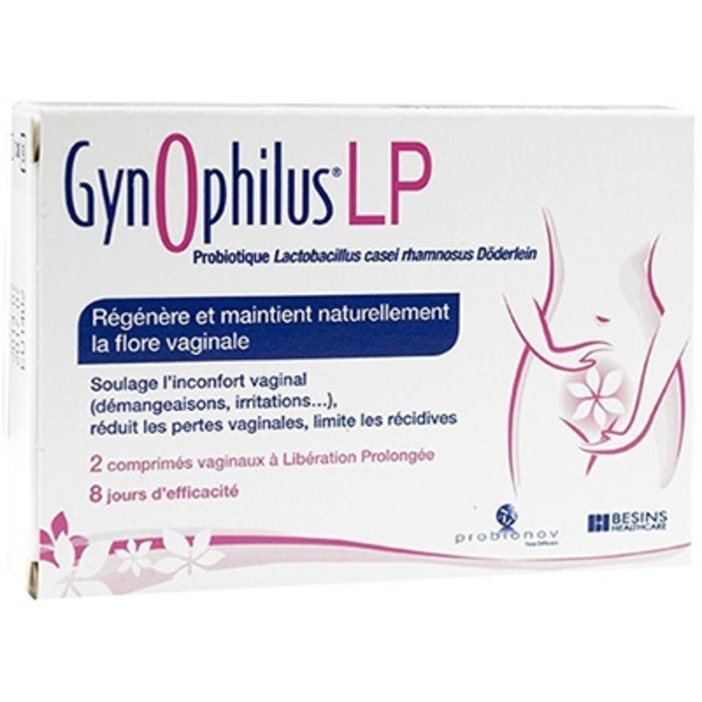 Gynophilus lp - 2 comprimés vaginaux - besins healthcare -205404