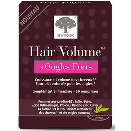 Hair volume & ongles forts 60 comprimés - new nordic -221330