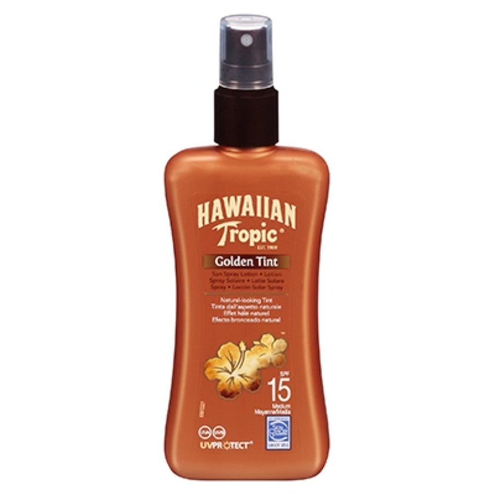 Hawaiian tropic golden tint spray spf15 - hawaiian tropic -202740