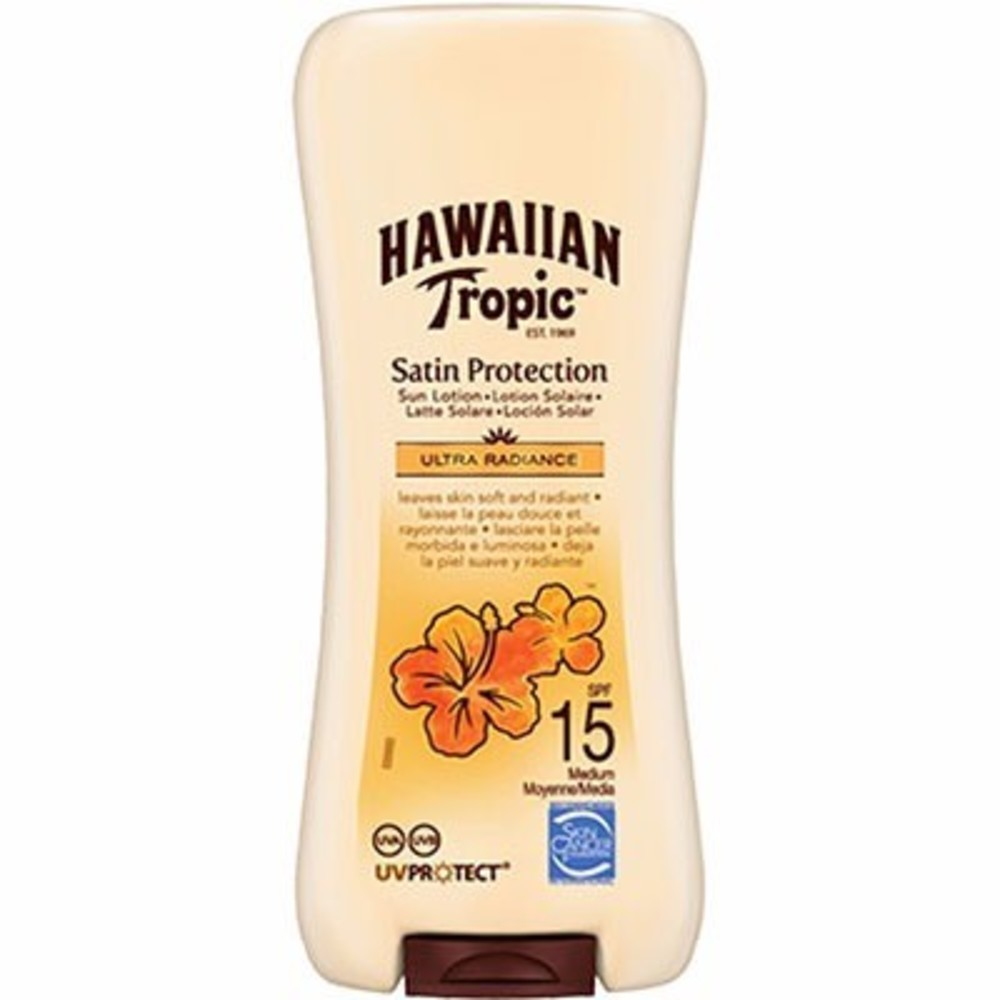 Hawaiian Tropic Satin Protection Lotion Solaire SPF15 100ml - Hawaiian Tropic -214677