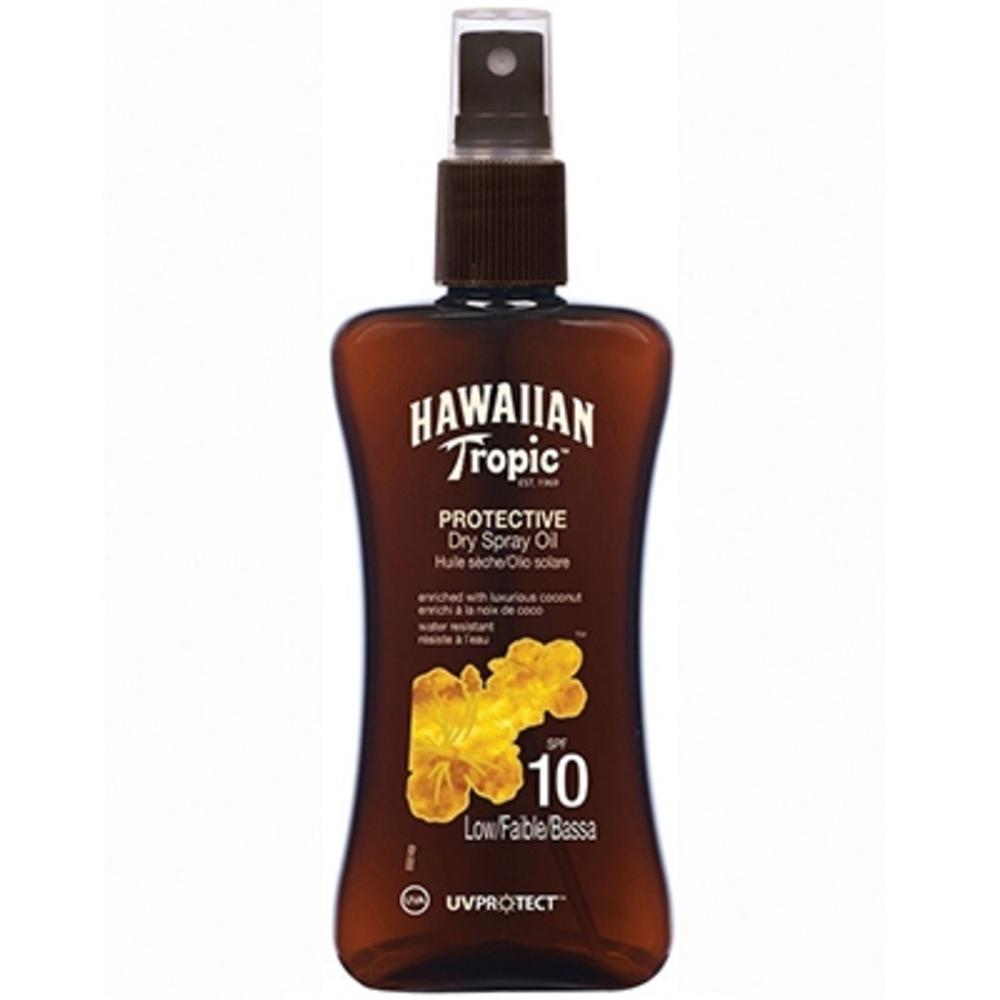 Hawaiian tropic spray huile sèche spf10 - 200 ml - hawaiian tropic -198425