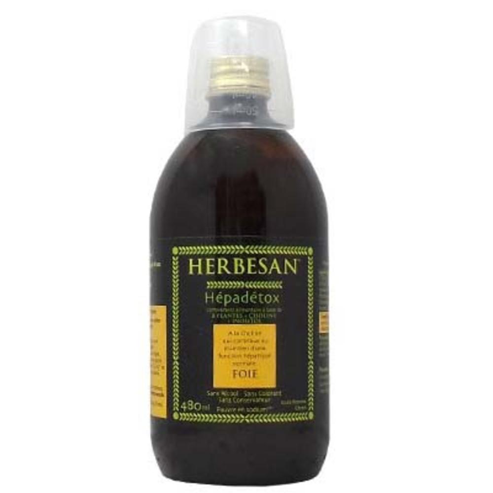 Hépadetox - 480.0 ml - transit - digestion - herbesan Solution buvable pour le foie-132400