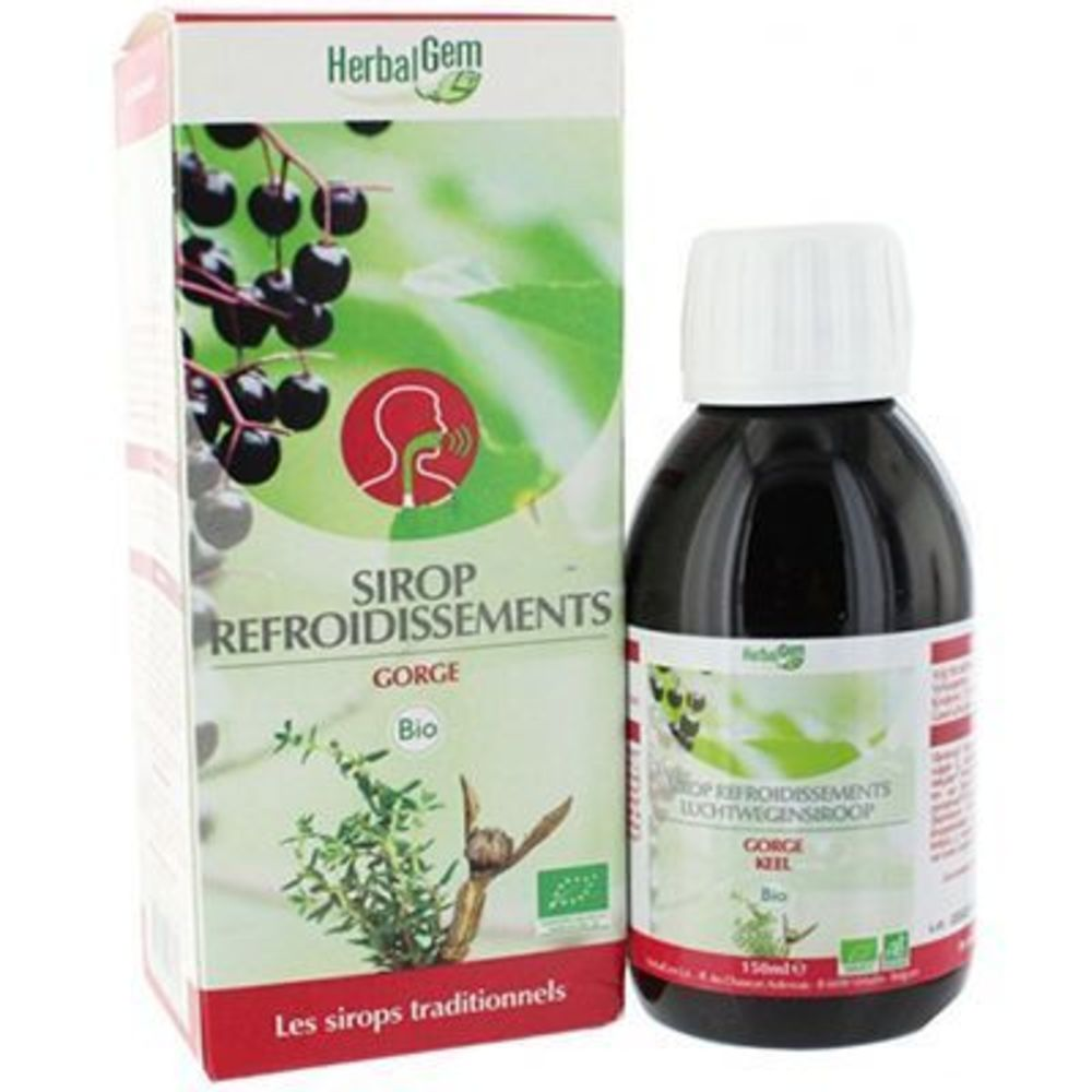 HERBALGEM Sirop Refroidissements Gorge Bio 150 ml - Herbalgem -141224