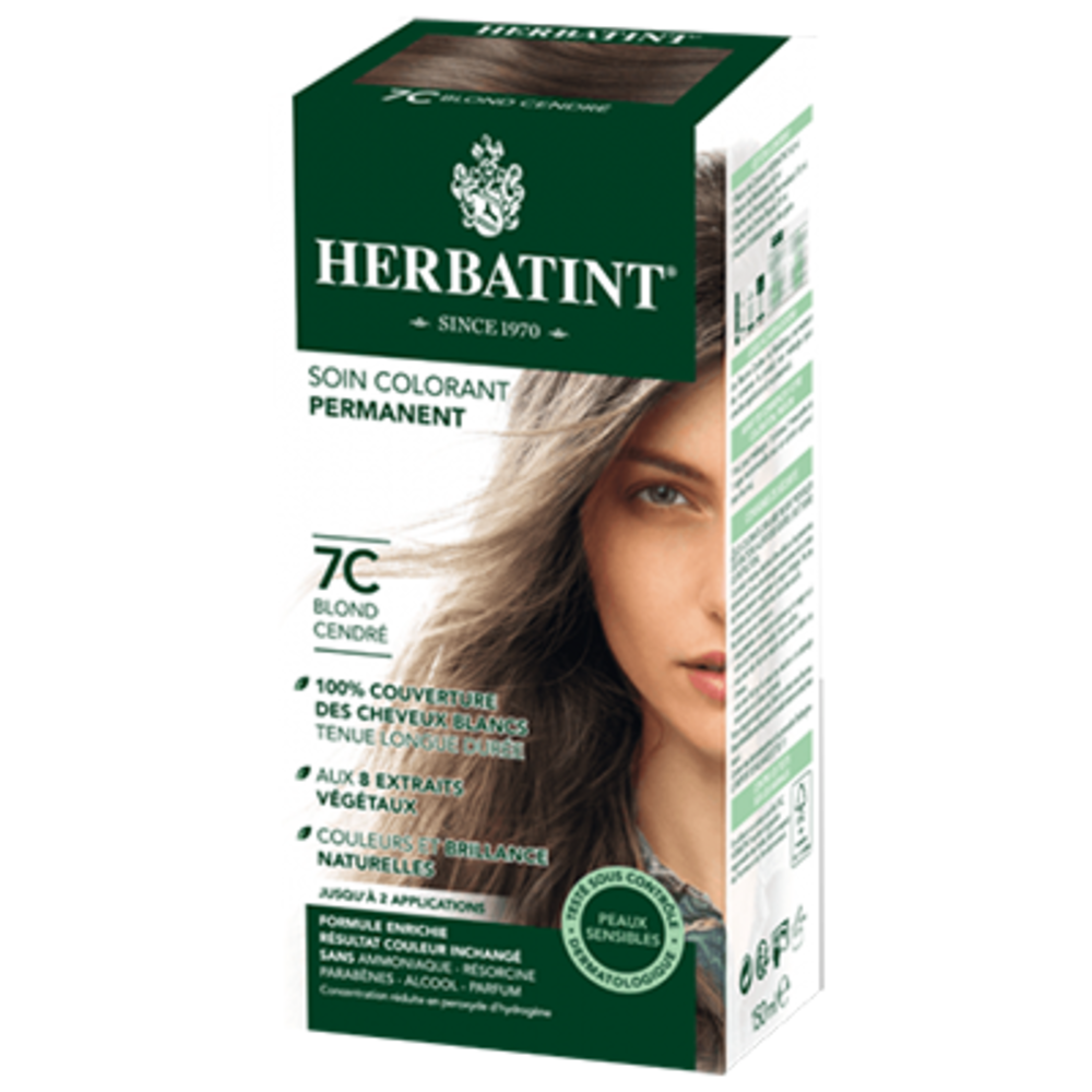 Herbatint coloration blond cendré 7c - 120.0 ml - gel colorant - herbatint -5854