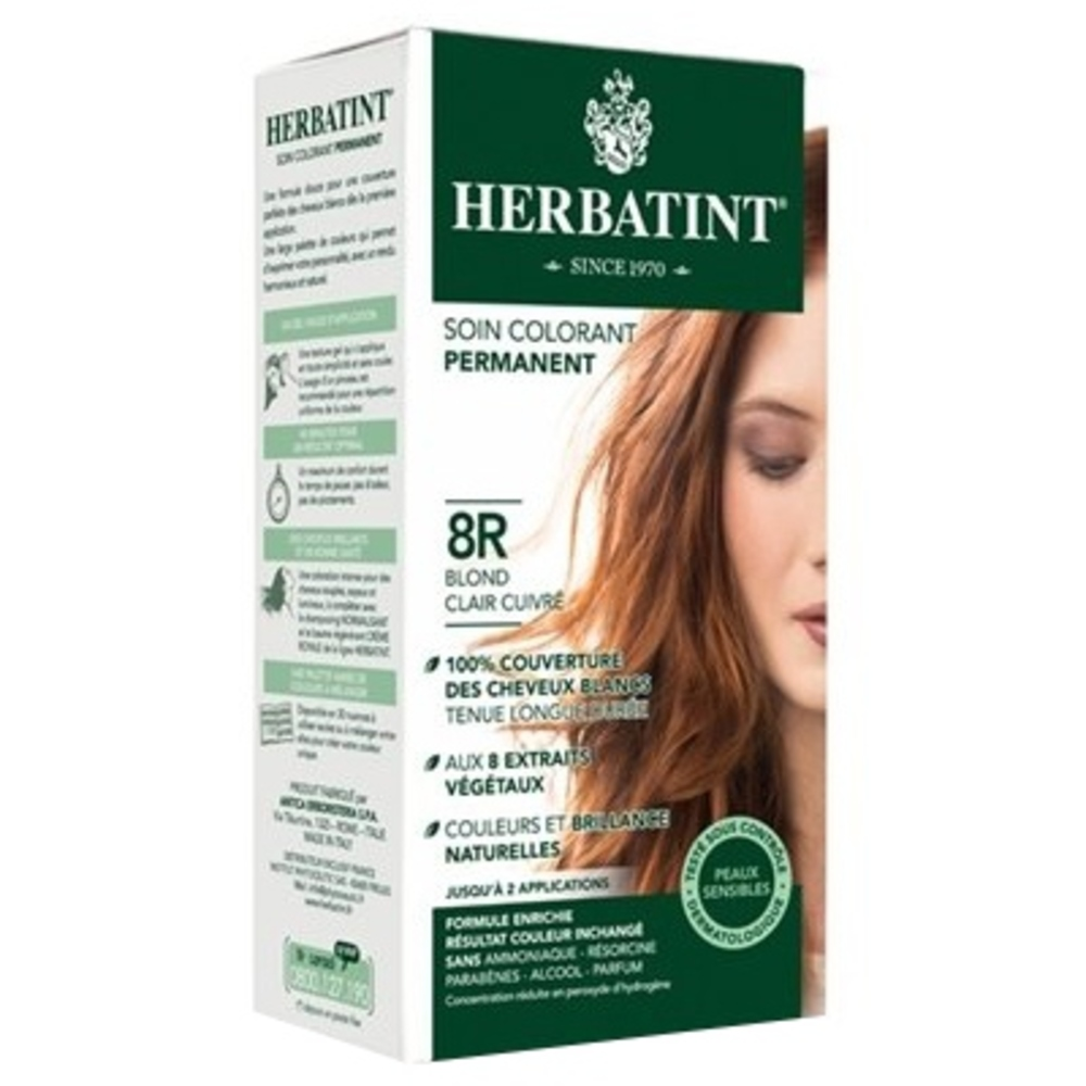 Herbatint coloration blond clair cuivré 8r - 120.0 ml - gel colorant - herbatint -5852