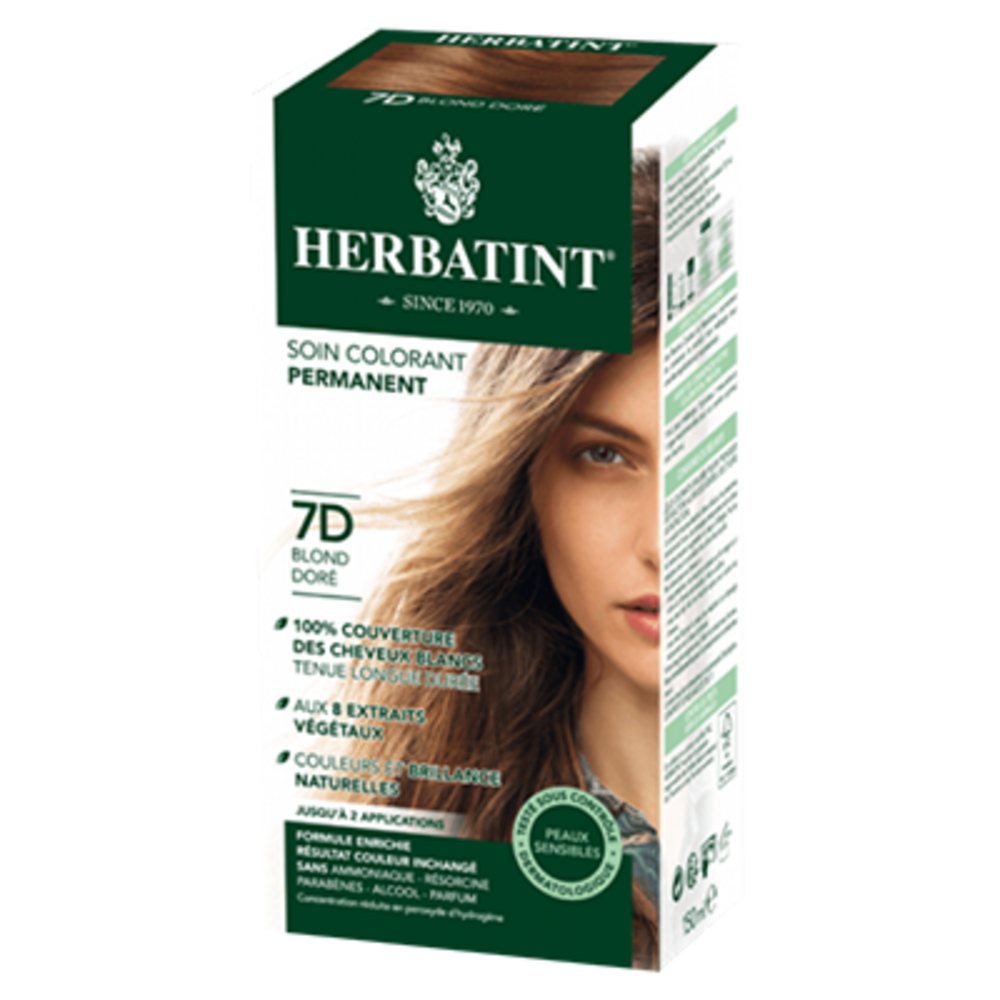 Herbatint coloration blond doré 7d - 120.0 ml - gel colorant - herbatint -5776