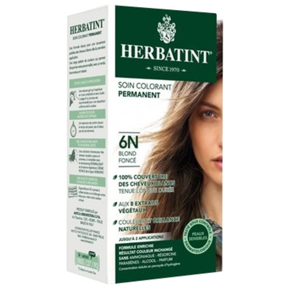 Herbatint coloration blond foncé 6n - 120.0 ml - gel colorant - herbatint -5768