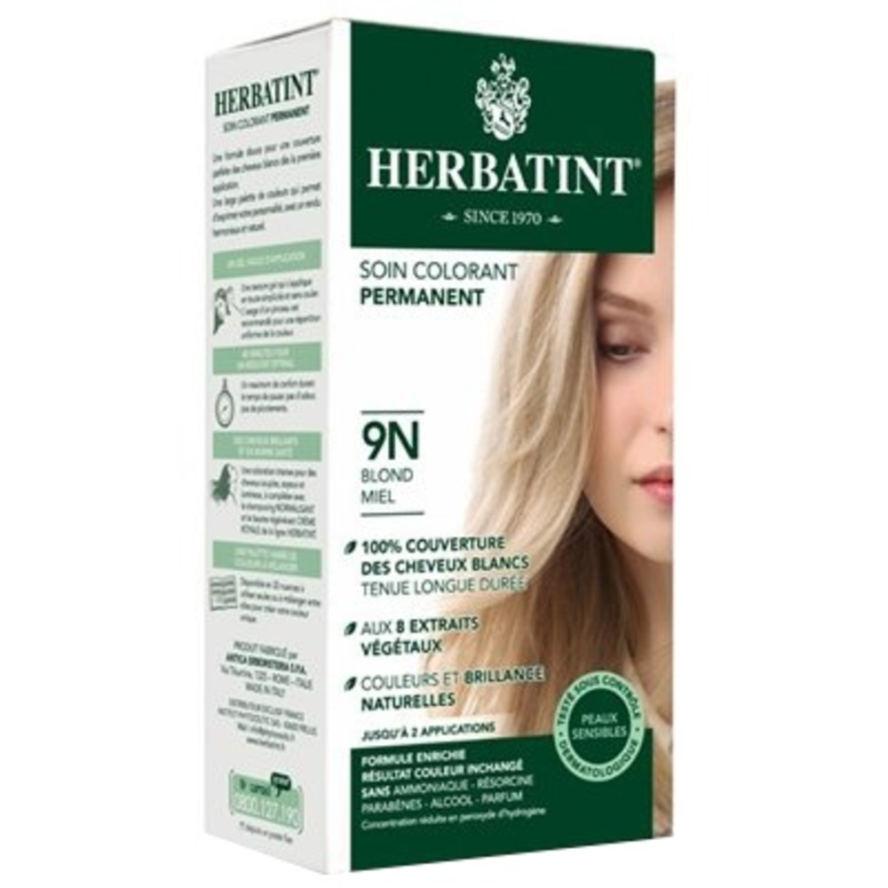 Herbatint coloration blond miel 9n - 120.0 ml - gel colorant - herbatint -5771