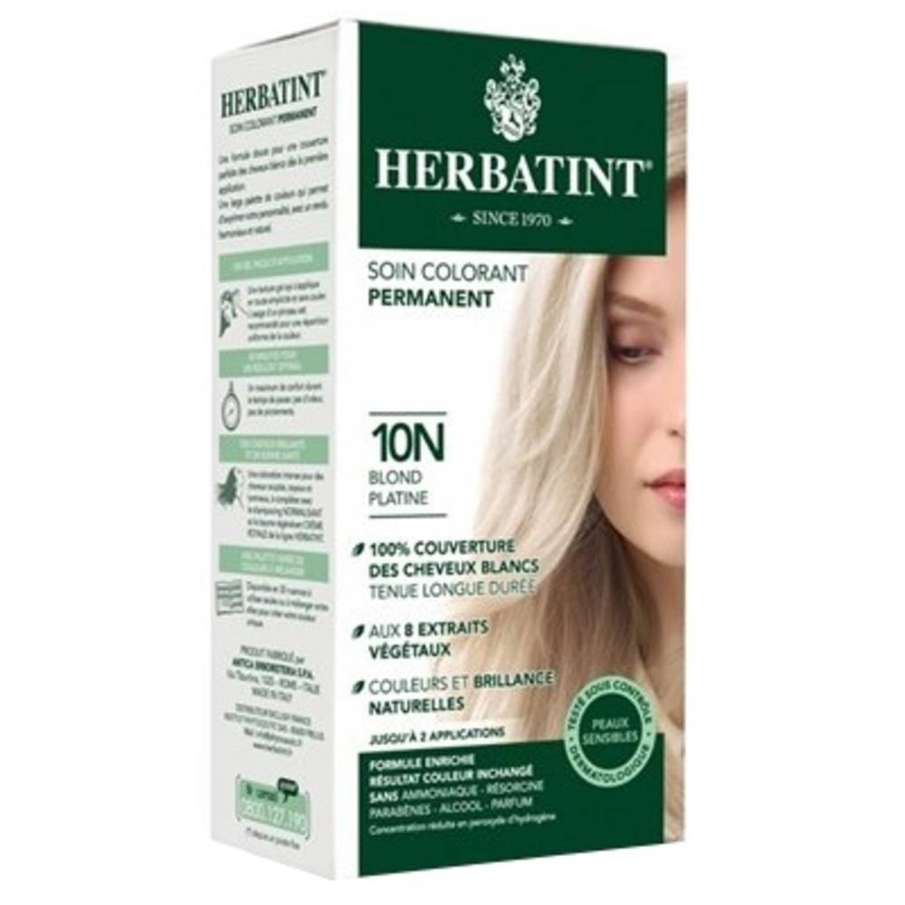 Herbatint coloration blond platine 10n - 120.0 ml - gel colorant - herbatint -5772