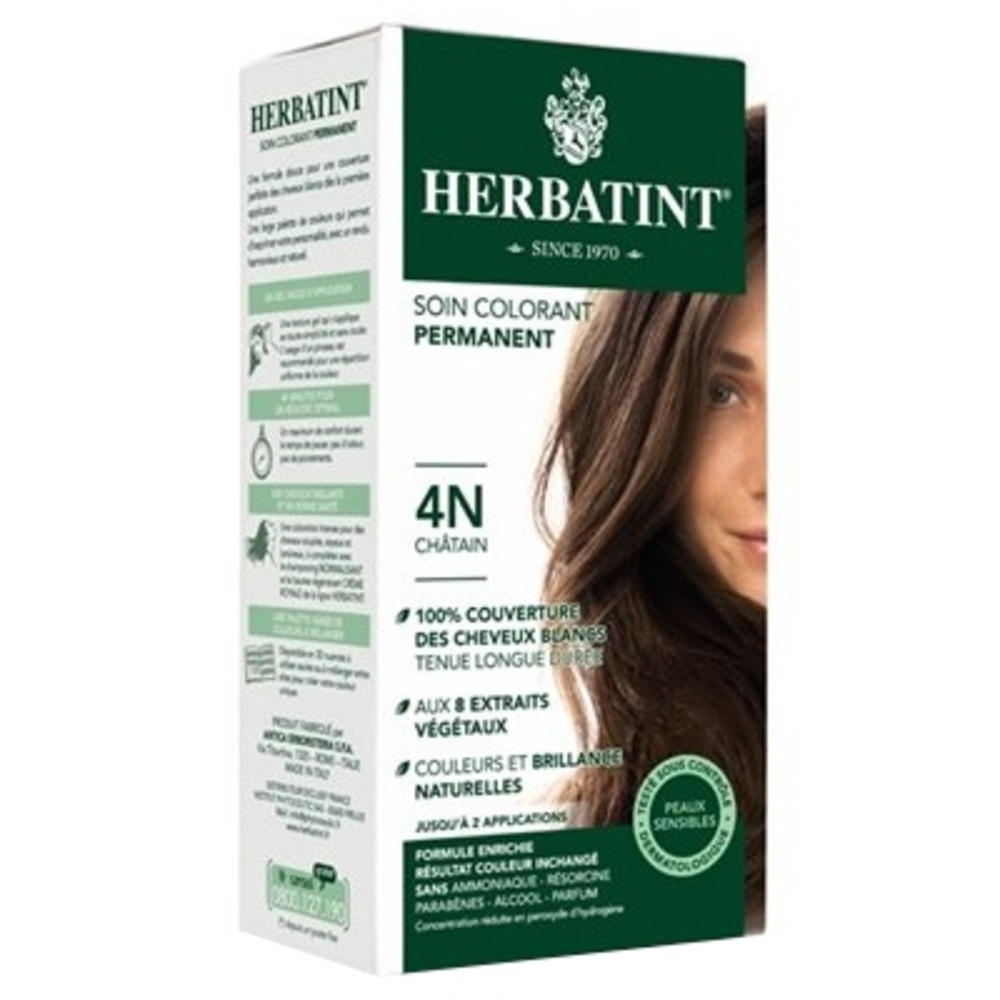 Herbatint coloration chatain 4n - 120.0 ml - gel colorant - herbatint -5766