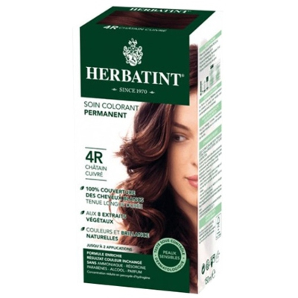 Herbatint coloration chatain cuivré 4r - 120.0 ml - gel colorant - herbatint -5781