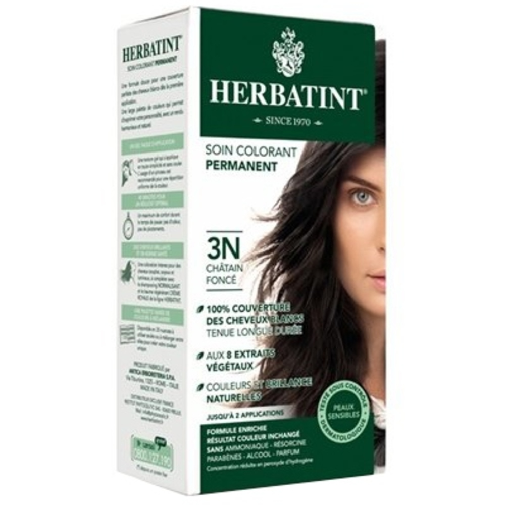 Herbatint coloration chatain foncé 3n - 120.0 ml - gel colorant - herbatint -5765