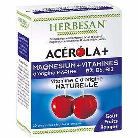 Herbesan acérola magnésium 30 comprimés - herbesan -215459