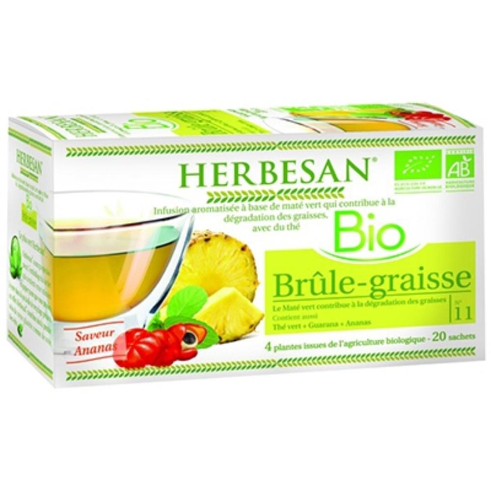 HERBESAN BIO Brûle-graisse - 20.0 unites - Infusion Bio - Herbesan -142200