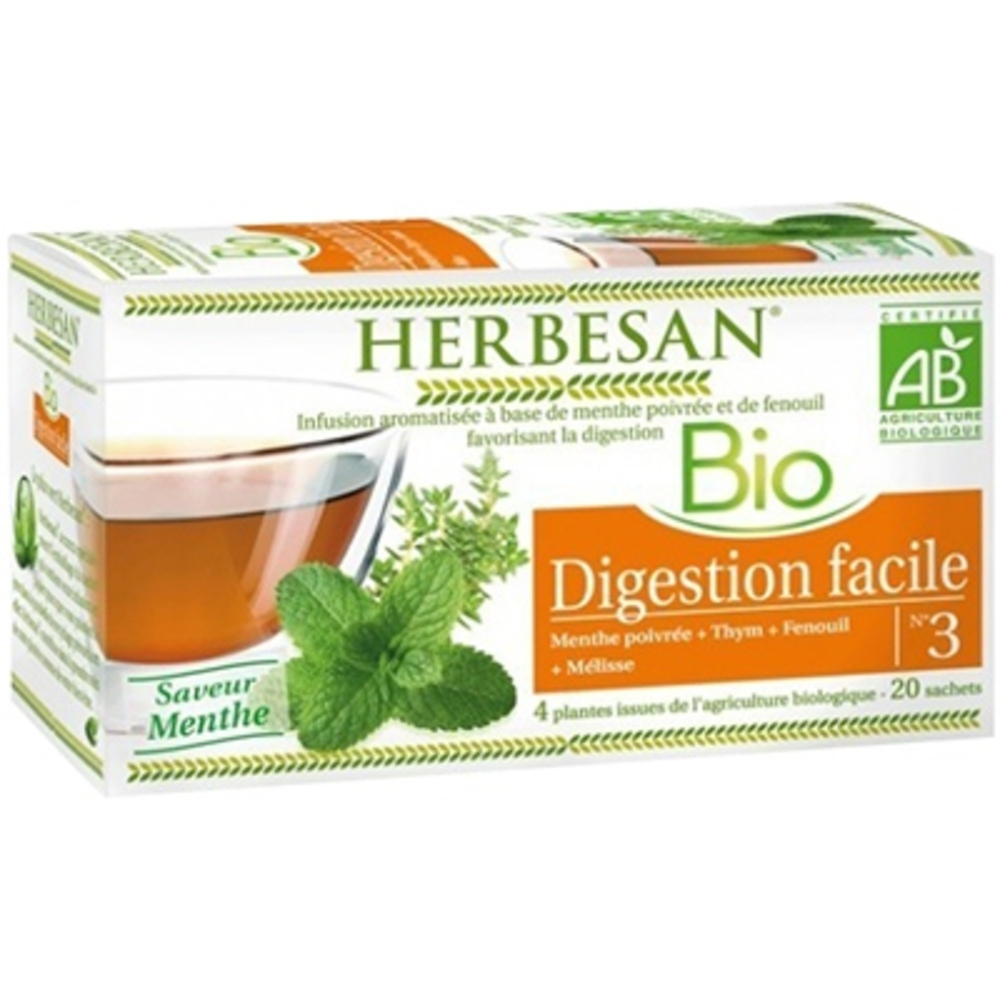 HERBESAN BIO Digestion Facile - 20.0 unites - Infusion Bio - Herbesan -132404
