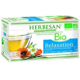 Herbesan bio nuit paisible - 20.0 unites - infusion bio - herbesan -142202