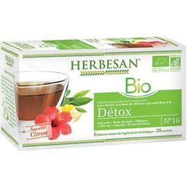 Herbesan infusion bio détox 20 sachets - herbesan -225294