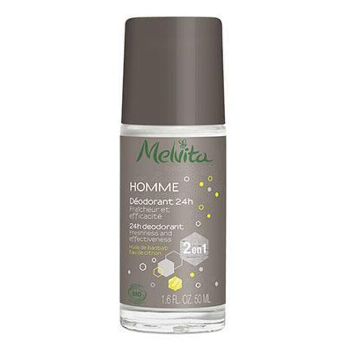 Homme déodorant 24h bio 50ml Melvita-225906