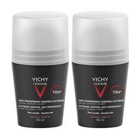 Homme déodorant anti-transpirant 72h - lot de 2 - 50.0 ml - vichy homme - vichy -83074