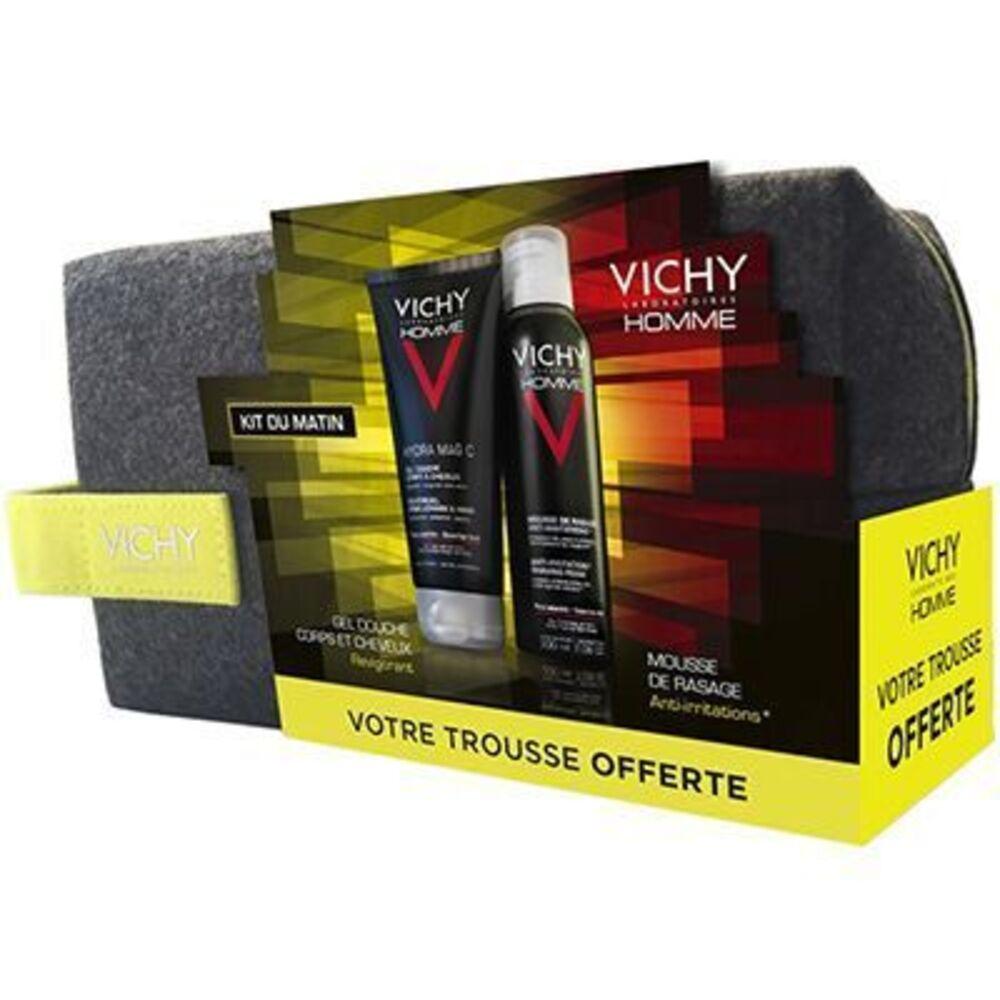 Homme trousse kit du matin gel douche 200ml + mousse de rasage 200ml Vichy-222778