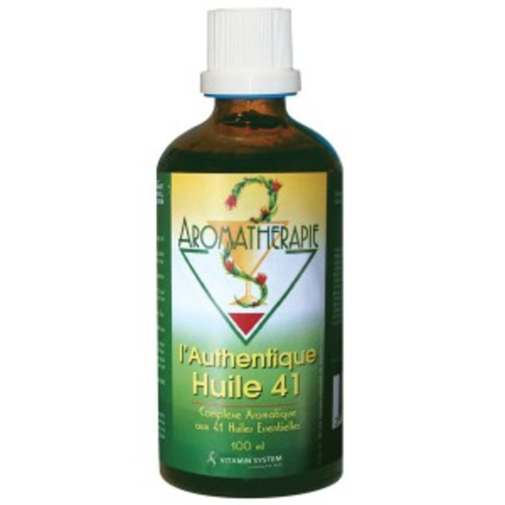 Huile 41 - 100.0 ml - gamme huile 41 - vitamin system contractures, piqûres d'insectes, écorchures, boutons...-12144