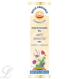 Huile ambiance anti-insectes bio - flacon 10 ml - divers - biofloral -134030