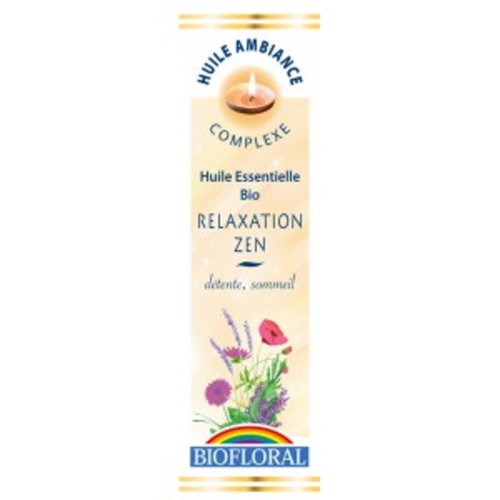 Huile ambiance relaxation zen bio - flacon 10 ml - divers - biofloral -134027