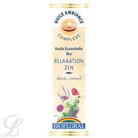 Huile ambiance relaxation zen bio - flacon 10 ml - divers - biofloral -134027
