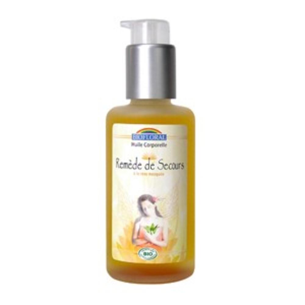 Huile corporelle remède de secours bio - 100.0 ml - huiles corporelles - biofloral -8808