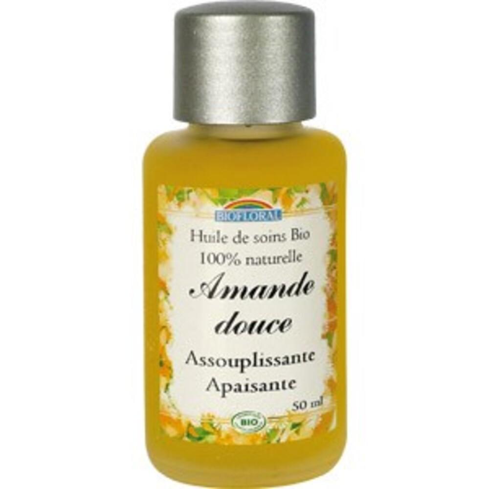 Huile cosmétique amande douce bio - flacon 50 ml - divers - biofloral -134016