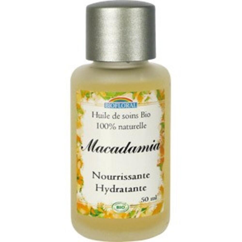 Huile cosmétique macadamia bio - flacon 50 ml - divers - biofloral -134021