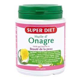 Huile d'onagre bio - 200 capsules - 200.0 unites - les super nutriments - super diet Beauté de la peau-4479