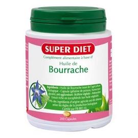 Huile de bourrache - 200 capsules - 200.0 unites - les super nutriments - super diet Souplesse et élasticité de la peau-4477