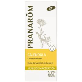 Huile de macération calendula bio - 50.0 ml - huiles végétales - pranarom peaux sèches et sensibles-12392