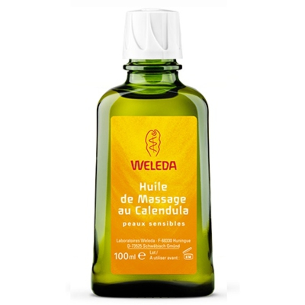 Huile de Massage au Calendula - 100.0 ml - huiles - Weleda Soin corporel peaux sensibles-506