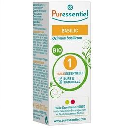 Huile essentielle basilic bio - 5.0 ml - huiles essentielles - puressentiel -130696