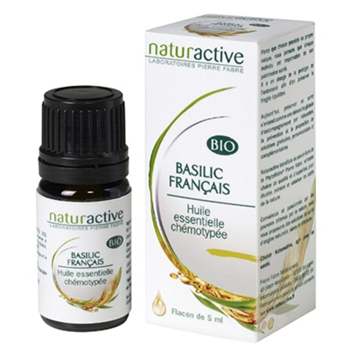 Huile essentielle basilic français bio 5ml Naturactive-200727
