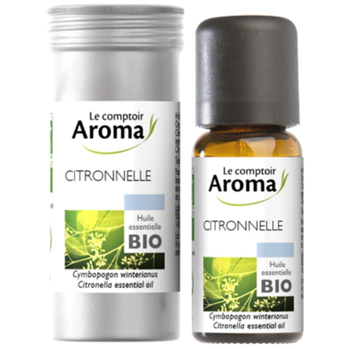 Huile essentielle bio citronnelle 10ml Le comptoir aroma-221997
