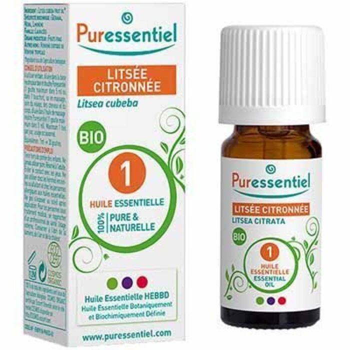Huile essentielle bio litsée citronnée 5ml Puressentiel-225427