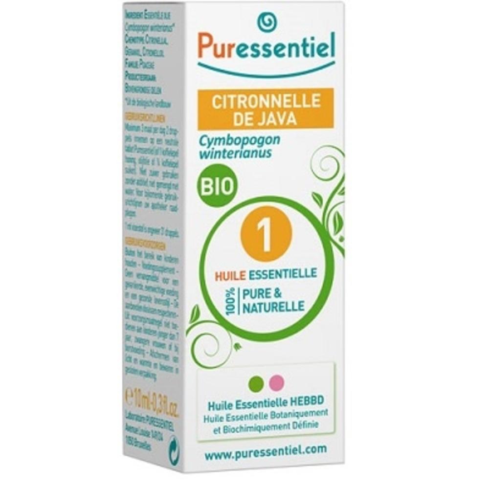 Huile essentielle citronnelle de java bio - 10.0 ml - huiles essentielles - puressentiel -125935