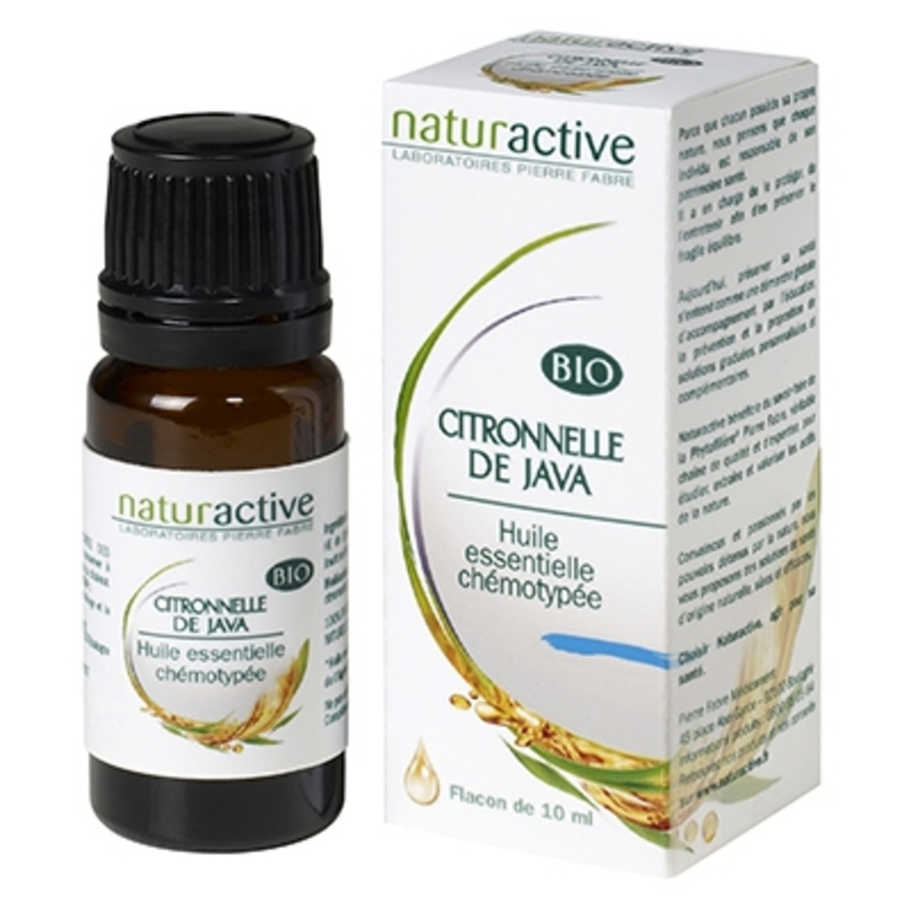 Huile essentielle citronnelle de java bio 10ml - naturactive -200730