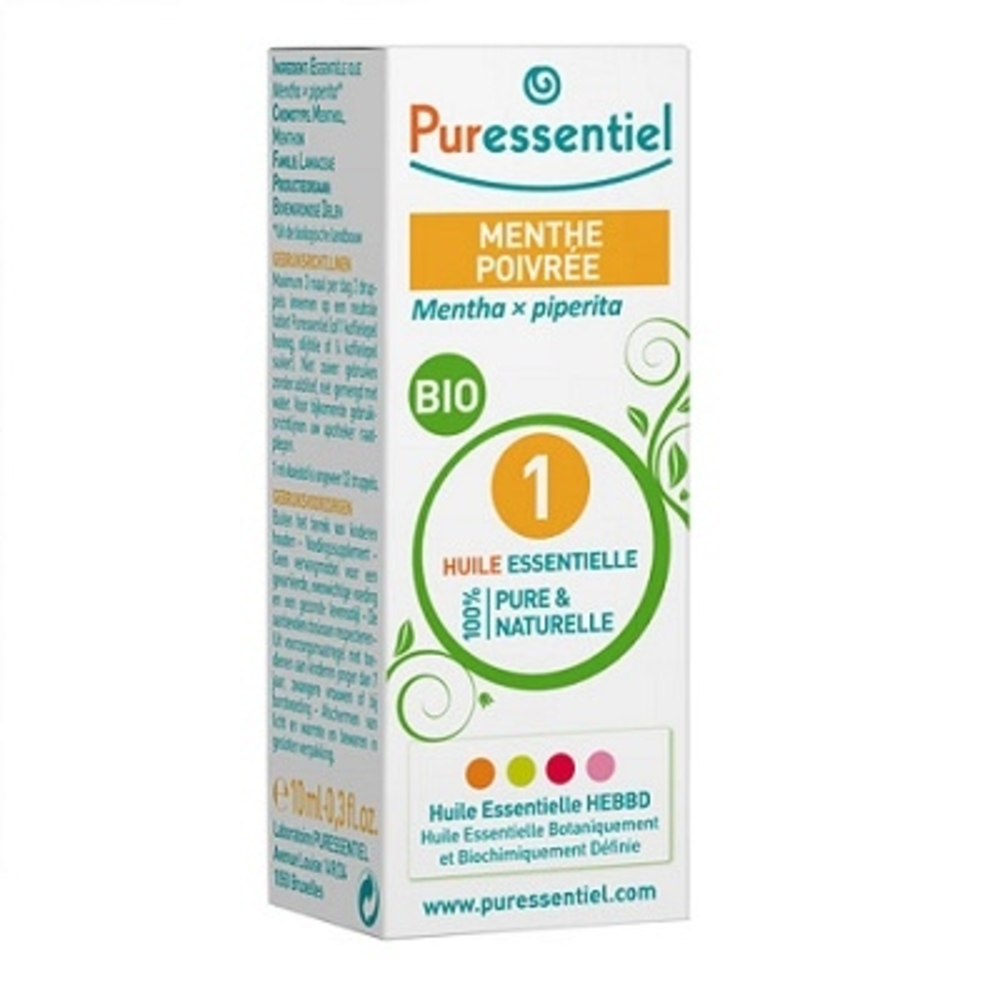 Huile essentielle de menthe poivree - 10.0 ml - huiles essentielles - puressentiel -125948