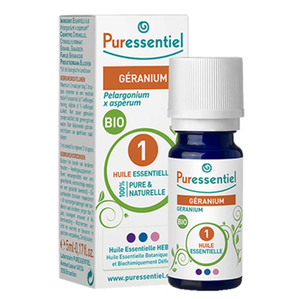 Huile essentielle géranium - 5.0 ml - huiles essentielles - puressentiel -125944