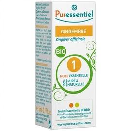 Huile essentielle gingembre bio - 5.0 ml - huiles essentielles - puressentiel -125940