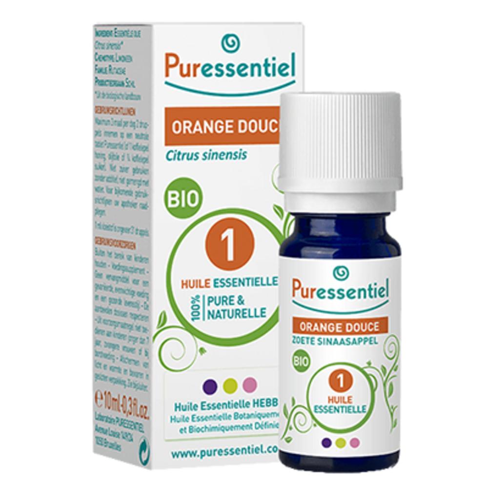 Huile essentielle orange douce - 10.0 ml - huiles essentielles - puressentiel -128295