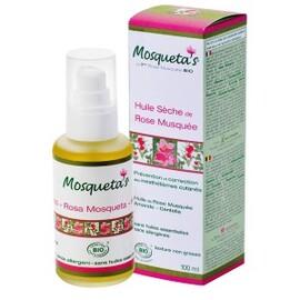 Huile sèche rose musquée anti-vergetures - 100.0 ml - huiles et capsules de rose musquée - eumadis mosquetas -142442